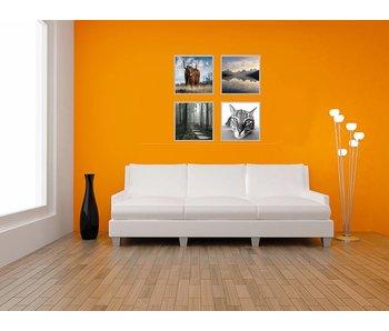 Collage zilveren 40 x 40 cm lijsten B-Line mat zilver