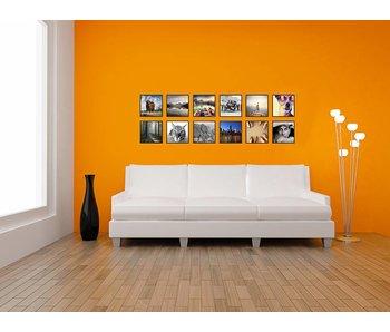 Collage zwarte 30 x 30 cm lijsten B-Line mat zwart