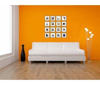 Collage zwarte 20 x 20 cm lijsten B-Line mat zwart