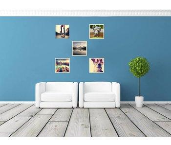 Collage 20 x 20 cm houten lijsten Basic Line blank hout