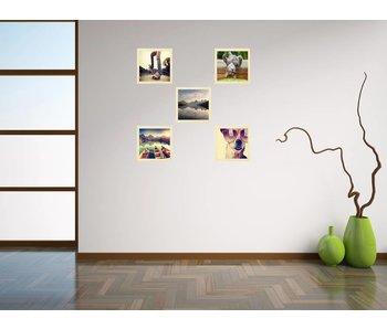 Collage 20 x 20 cm houten lijsten Premium Line blank hout