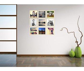 Collage 40 x 40 cm houten lijsten Premium Line blank hout