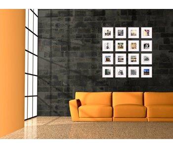 Collage zilver 20 x 20 cm lijsten D-Line mat zilver
