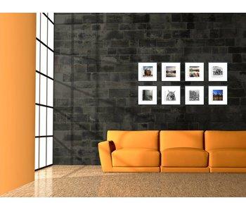 Collage zwarte 30 x 30 cm lijsten D-Line mat zwart