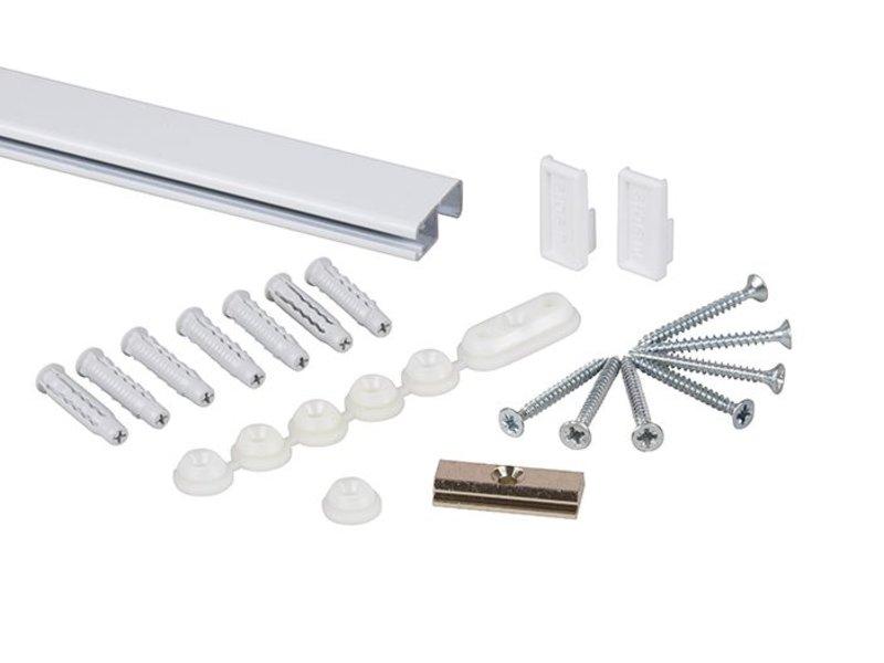 STAS cliprail pro wit smart pack 2 x 1 meter pakket - tot 45 kg per meter belastbaar