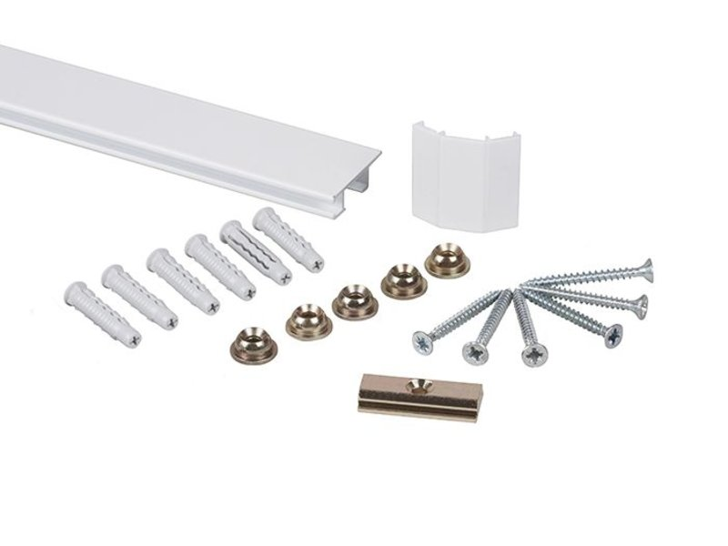 STAS cliprail Max wit smart pack 2 x 1 meter pakket - tot 20 kg per meter