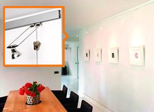 Kunst uitgelicht met STAS verlichting en ophangsystemen