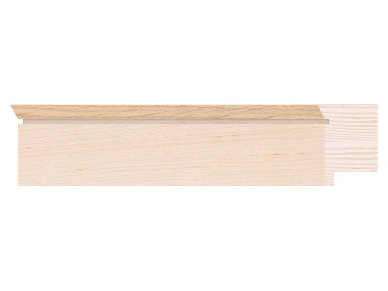 DLF Touchwood Unique L - Eiken esdoorn afwerking met opstaande rand