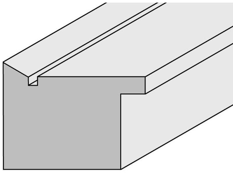 DLF Touchwood Unique L - Walnoot eiken afwerking met opstaande rand