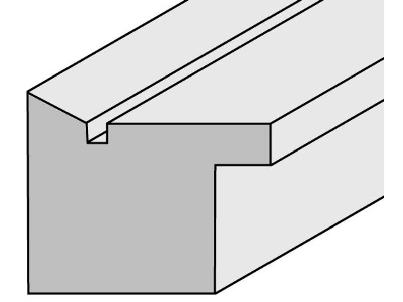 DLF Touchwood Unique XL - Eiken walnoot afwerking met opstaande rand