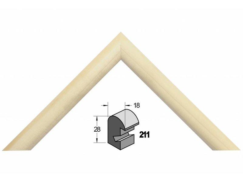 Barth Blank massief populieren houten Barth wissellijst 211-777