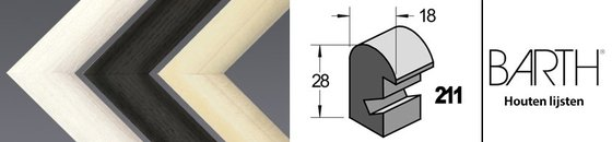 Wissellijst hout serie Barth 211
