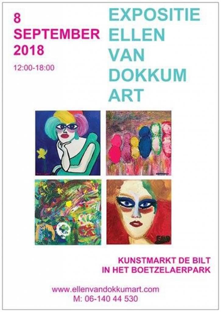 Expositie Ellen van Dokkum op Kunstmarkt De Bilt