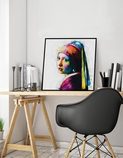 Pop art vermeer - Patrice Murciano