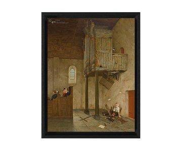 A capella - Gicleé op canvas in baklijst - Marius van Dokkum