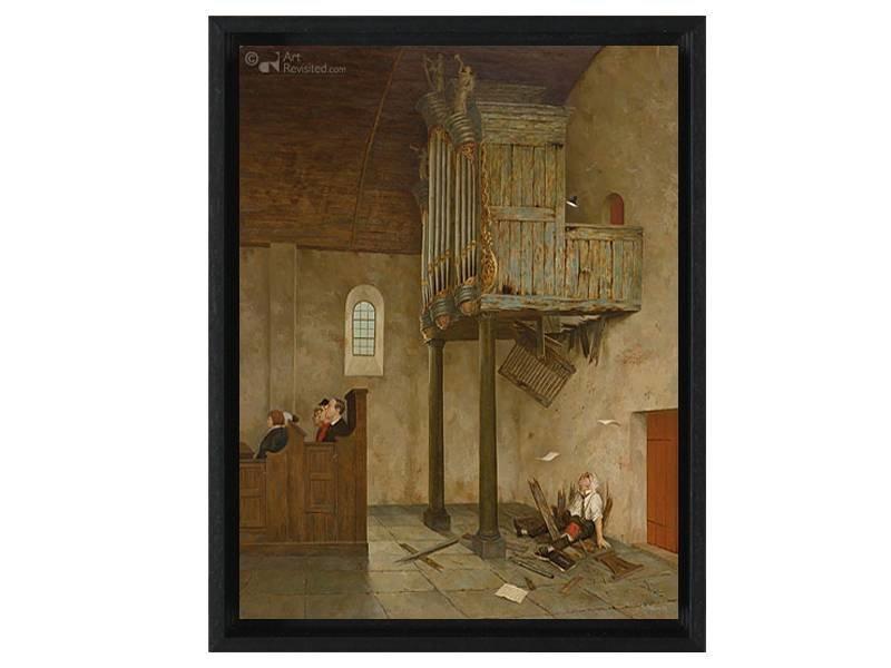 DLF A capella van Marius van Dokkum als Gicleé  op canvas inclusief zwarte baklijst