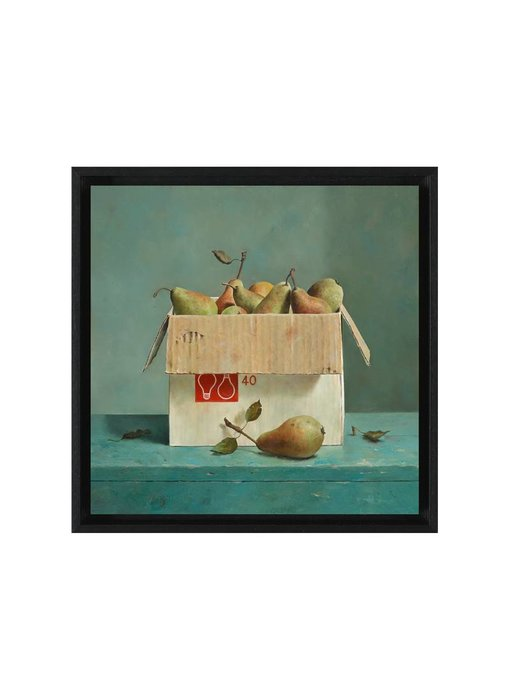 Doos met peertjes - Gicleé op canvas in baklijst - Marius van Dokkum