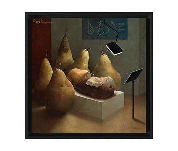 Anatomische les - Gicleé op canvas in baklijst - Marius van Dokkum