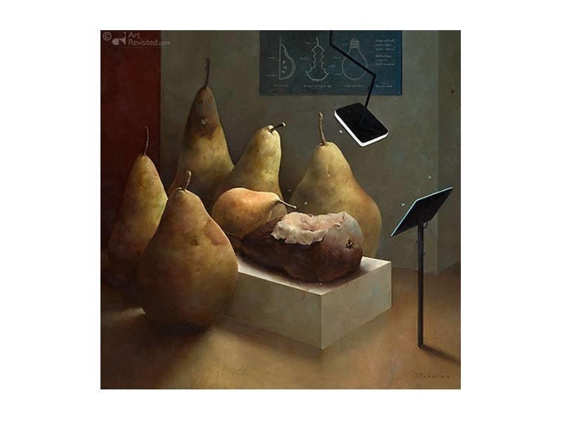 DLF Anatomische les van Marius van Dokkum als Gicleé  op canvas inclusief zwarte baklijst