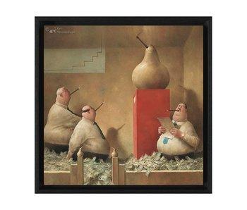 Gouden peren - Gicleé op canvas in baklijst - Marius van Dokkum