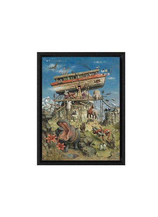De ark van Noach - Gicleé op canvas in baklijst - Marius van Dokkum
