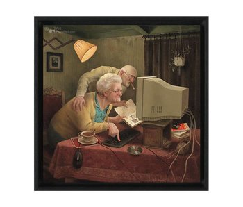 Meegaan met je tijd - Gicleé canvas in baklijst - Marius van Dokkum