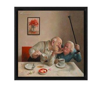 Liefde van één kant - Gicleé op canvas in baklijst - Marius van Dokkum