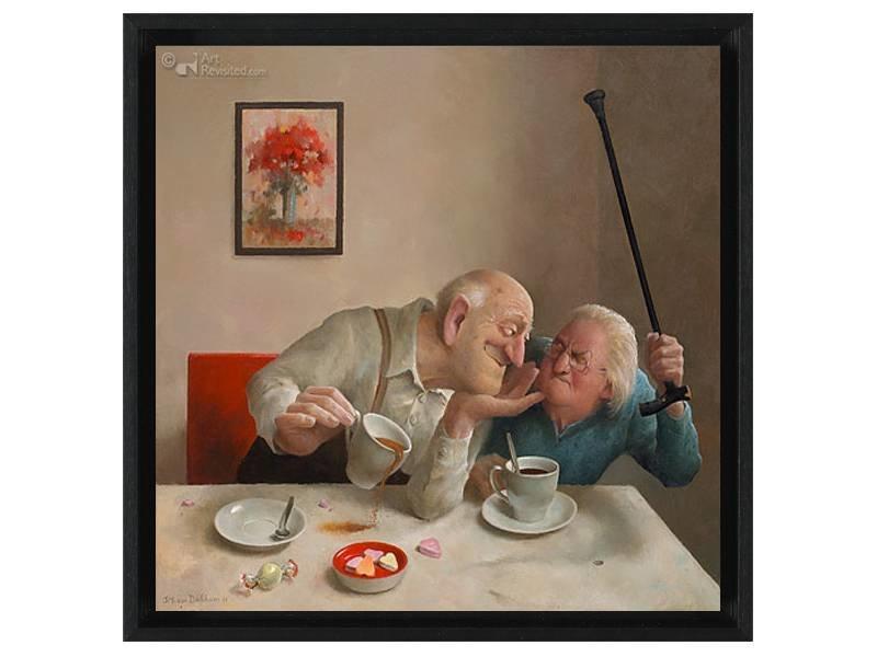 DLF Liefde van één kant van Marius van Dokkum als Gicleé  op canvas inclusief zwarte baklijst