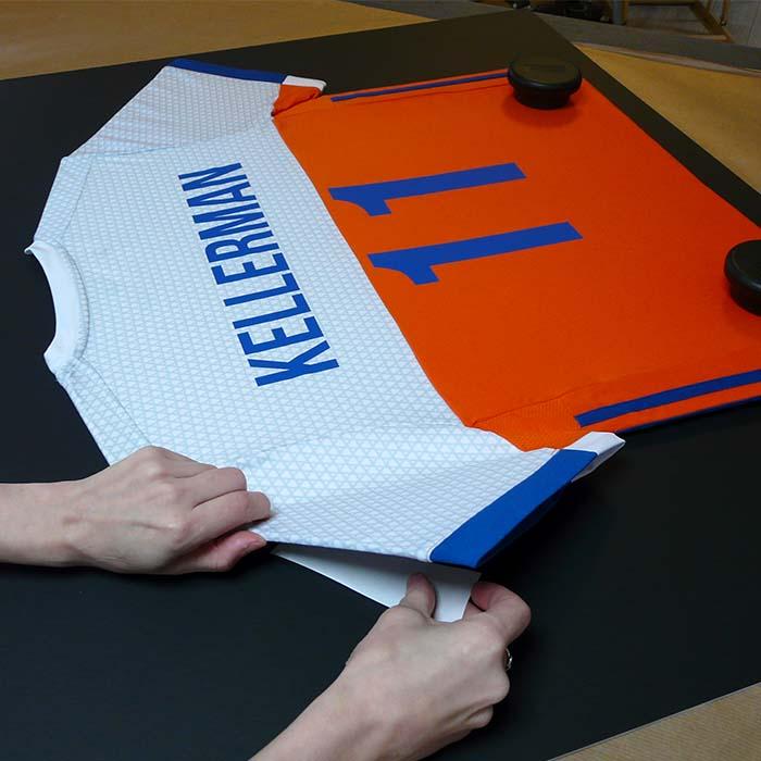 positioneren en inlijsten T-shirt Bjorn Kellerman