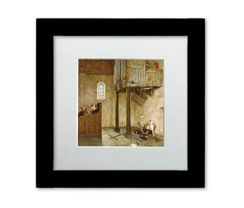 A capella - ingelijste kunstkaart - Marius van Dokkum