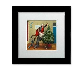 Kerstengeltjes - Ingelijste kunstkaart - Marius van Dokkum