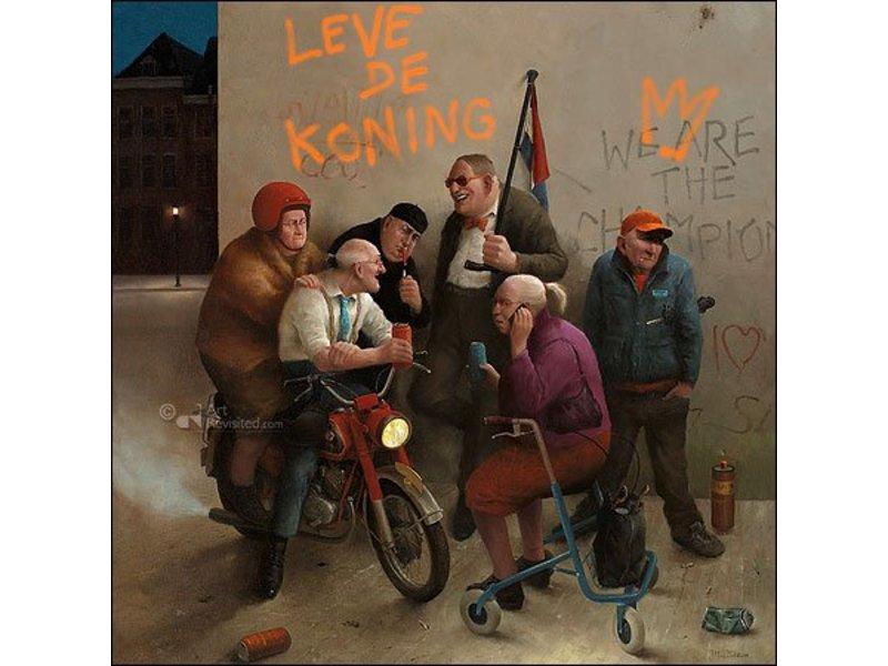 DLF Leve de koning! van Marius van Dokkum inclusief passe-partout