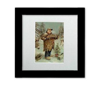 Stille nacht - Ingelijste kunstkaart - Marius van Dokkum