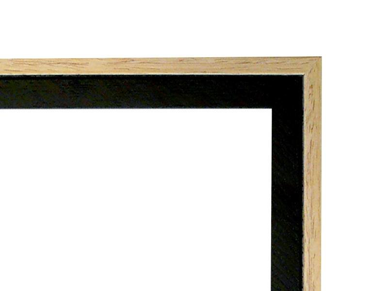 DLF Duo Tone blank zwarte lijsten - houten wissellijst uit een stuk