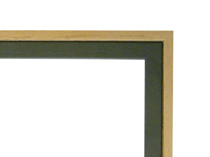 DLF Duo Tone blank groene koloniale lijsten - houten wissellijst uit een stuk