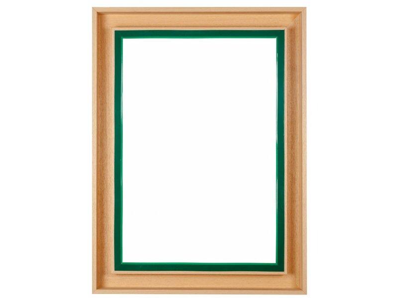DLF Premium Paneel lijst blank hout - voor dibond en andere panelen