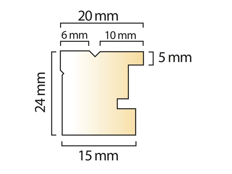 DLF Duo Tone blank witte lijsten - houten wissellijst uit een stuk
