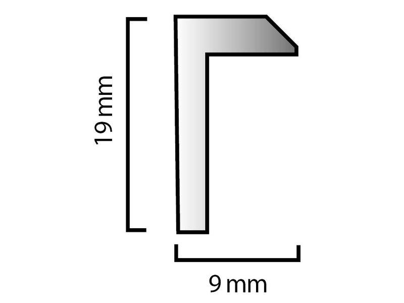 DLF Wissellijsten D-Line kleur wit - design lijsten
