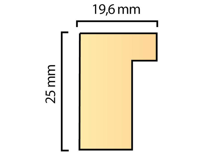 DLF Wissellijsten Premium blank ongelakt - houten lijsten