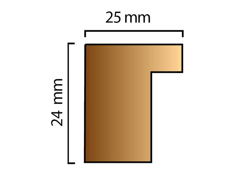 DLF Wissellijsten Phantom bruin eiken - houten luxe lijsten