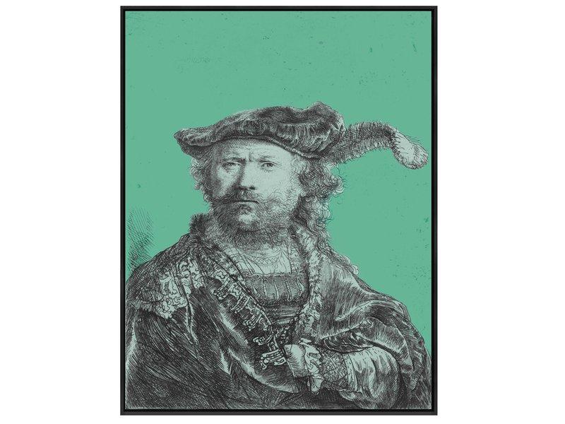 Zelfportret van Rembrandt in jouw eigen kleur