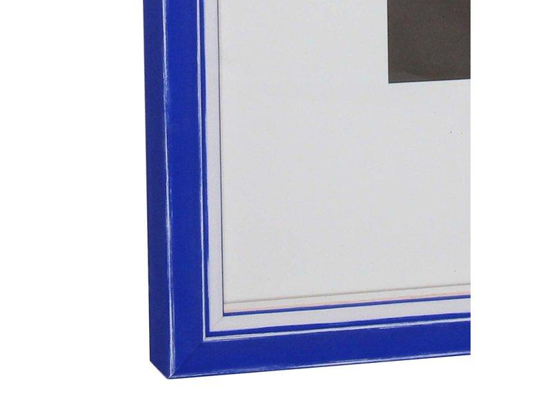 DLF Wissellijsten Luminoso Line - blauw wit met witte spacer