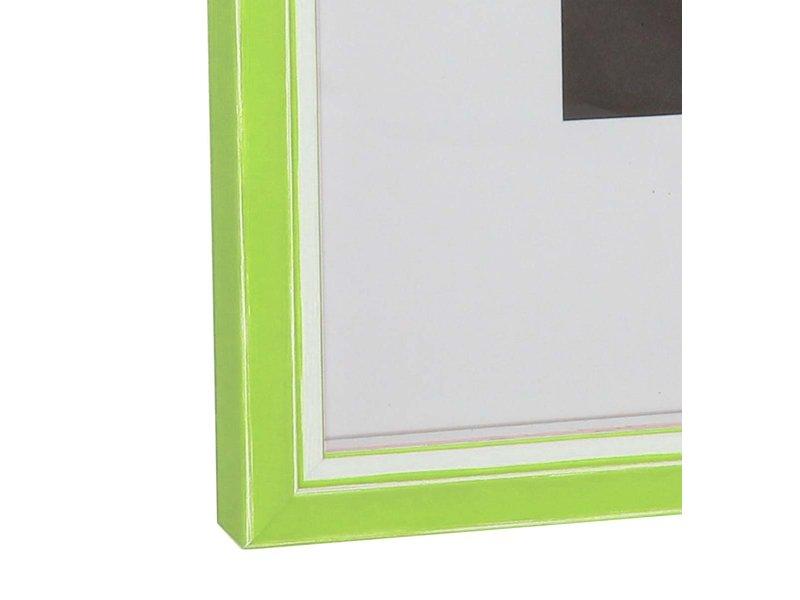DLF Wissellijsten Luminoso Line - licht groen met witte spacer