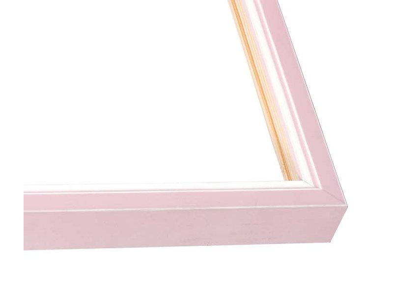 DLF Wissellijsten Luminoso Line - roze wit met witte spacer