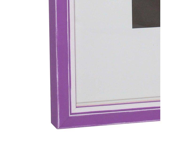 DLF Wissellijsten Luminoso Line - violet met witte spacer