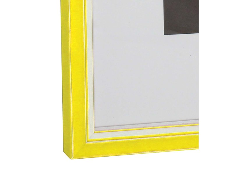 DLF Wissellijsten Luminoso Line - geel met witte spacer