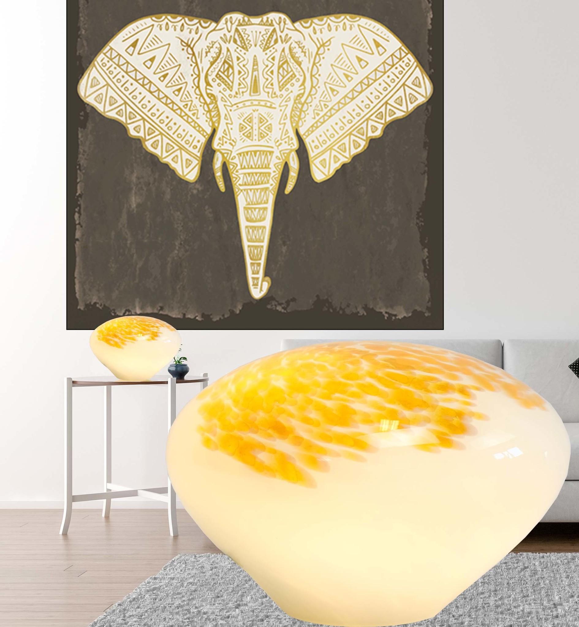 Handgemaakte lamp van kristal