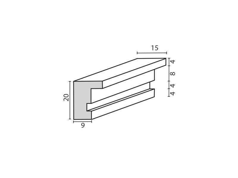 DLF Wissellijsten Basic antraciet eiken folie fineer - houten wissellijsten