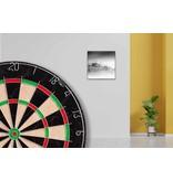 60 x 60 cm lijst compleet met inlijsting over dartbord
