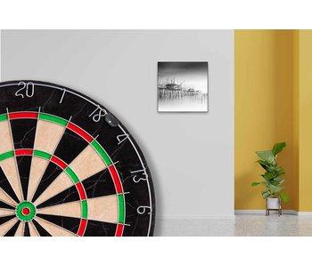 60 x 60 cm dartbord lijst compleet